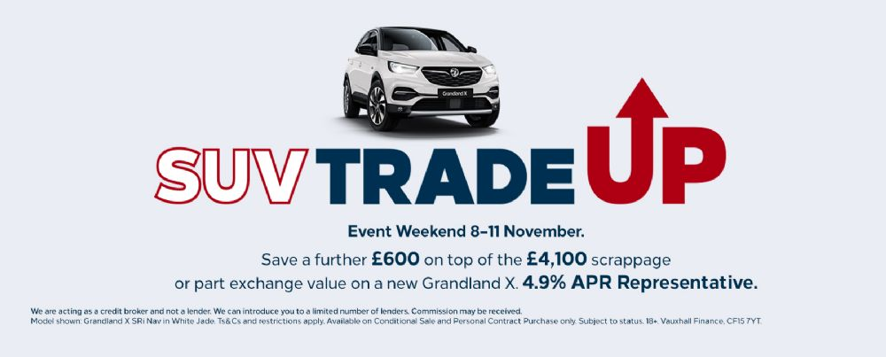 Vauxhall SUV Trade Up Event Weekend