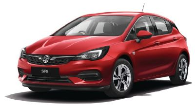Vauxhall New Astra Lava Red